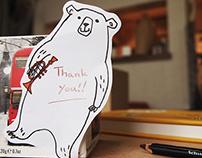 Illustrations for animal sticky notes for Gakken.co.