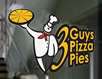 3 Guys Guys Pizza Pies Logo