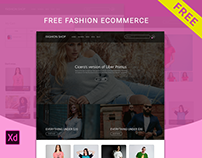 Free e-commerce (fashion) Adobe xd theme