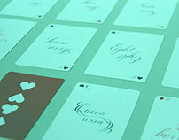 Calligraphic deck of cards