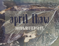 April Thaw-my newest hand drawn font!
