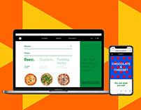 Kramer's Pizza Joint e-commerce website