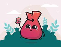 Cashbag's Mascot Design