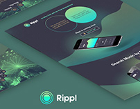 Promo Landing page for music Mobile App Rippl