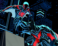 Spiderman 2099/Batman beyond team up