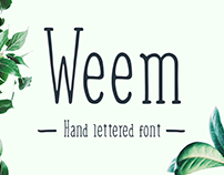 Weem - Free Hand Lettered Font