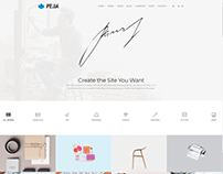 Portfolio Fullwidth Masonry - Peak WordPress Theme