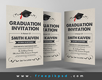 Free Graduation Invitation Cards Psd