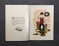 Folding book story / 摺紙書繪本故事插畫