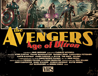 Vintage VHS movie poster -AVENGERS