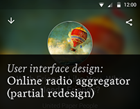 Online radio aggregator (partial redesign)