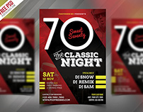 Freebie : Classic Event Party Flyer PSD