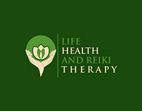 Life, Health and Reiki Therapy Company Logo Design
