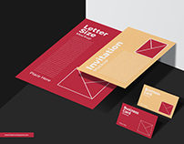 Free Stationery Mockup For Branding
