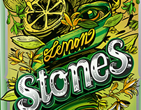 Re diseño etiqueta Lemon Stones by kartess