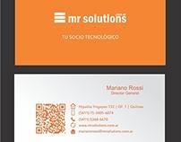 diseño de tarjeta de negocios