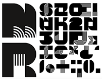 Geometric NoColor font (FREE)