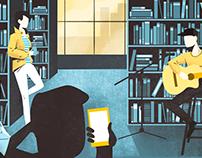 Book festival illustrations