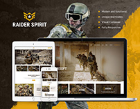 Raider Spirit | Airsoft Club & Paintball WP Theme