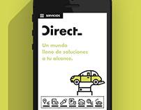 Mobile App  |  Direct  #app  #illustration #UI #UX