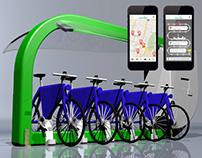 Concept design: MDes / Rental bike station with APP