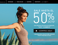 Daily Basics · Ecommerce · web design