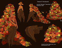 """Seasons"" Storyboard & Concepts 2016"