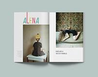 Alena Zhandarova Magazine Spreads