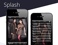 Splash  Mobile App - UI Design & Concept