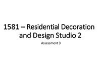 Martin College 1581A3 - Res. Decor'n & Design Studio 2