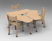 Alba, Mobiliario escolar (concept)