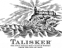 Talisker Neist Point Label rendered by Steven Noble