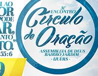 Cartaz para Encontro de Círculo de Oração