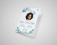 Celebration of Life Program Brochure