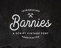 Barnie's – Handcrafted Vintage Script Font