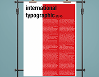 A study of the International Typographic Style.