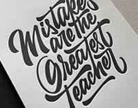Mistakes are the Greatest Teacher Letterpress