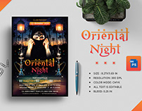 Oriental Night Party Flyer Title Design