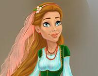 Roksolana's character design for animation studio