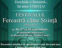 """Festivalul Științific """"Fereastră către Știință""""-Tecuci"""