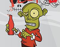 al zombie no le gusta la cocacola