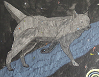 Inktober Canis Major constellation drawing