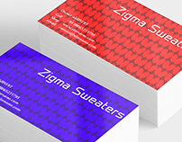 Business Card Design: Zigma Sweaters