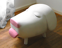 Dog Head Stool