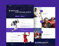 Free Sport PSD Landing Page Template