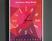 One Home. Many Worlds  |  Creative Clock