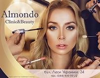 Outdoor advertising for Almondo Clinic&Beauty