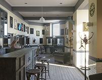 Interior 3D Render of Barber shop in Kharkiv, UA