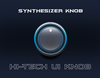 Synthesizer Knob Hi-Tech UI Knob