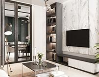 Доминирующий серый в интерьере квартиры
